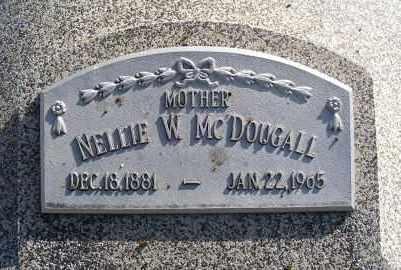 MCDOUGALL, NELLIE W. - Frontier County, Nebraska   NELLIE W. MCDOUGALL - Nebraska Gravestone Photos