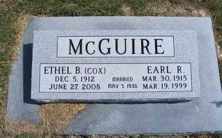 COX MCGUIRE, ETHEL B. - Frontier County, Nebraska | ETHEL B. COX MCGUIRE - Nebraska Gravestone Photos
