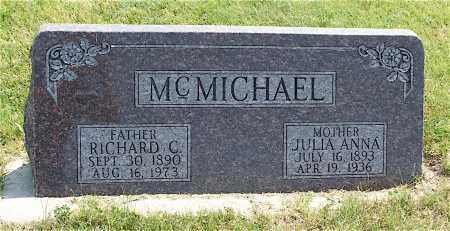 MCMICHAEL, RICHARD C. - Frontier County, Nebraska | RICHARD C. MCMICHAEL - Nebraska Gravestone Photos
