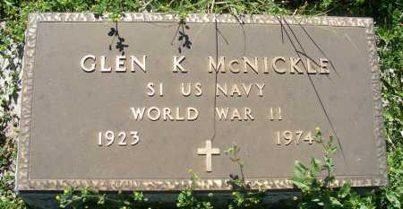 MCNICKLE, GLEN K. - Frontier County, Nebraska | GLEN K. MCNICKLE - Nebraska Gravestone Photos