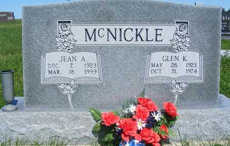 COLE MCNICKLE, JEAN A. - Frontier County, Nebraska | JEAN A. COLE MCNICKLE - Nebraska Gravestone Photos