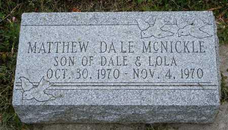 MCNICKLE, MATHEW DALE - Frontier County, Nebraska   MATHEW DALE MCNICKLE - Nebraska Gravestone Photos