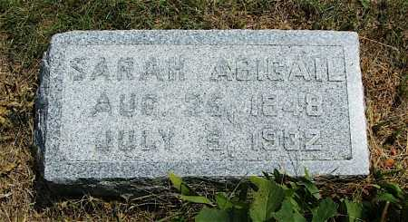 MCNICKLE, SARAH ABIGAIL - Frontier County, Nebraska   SARAH ABIGAIL MCNICKLE - Nebraska Gravestone Photos