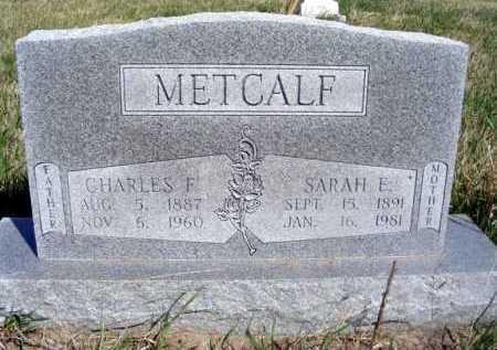 METCALF, SARAH E. - Frontier County, Nebraska | SARAH E. METCALF - Nebraska Gravestone Photos