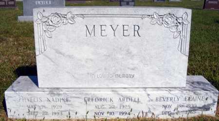 MEYER, FREDRICK ARDELL - Frontier County, Nebraska   FREDRICK ARDELL MEYER - Nebraska Gravestone Photos