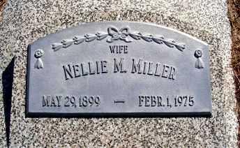 MILLER, NELLIE M. - Frontier County, Nebraska | NELLIE M. MILLER - Nebraska Gravestone Photos