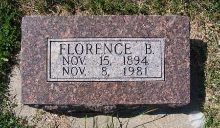 MITCHELL, FLORENCE B. - Frontier County, Nebraska | FLORENCE B. MITCHELL - Nebraska Gravestone Photos