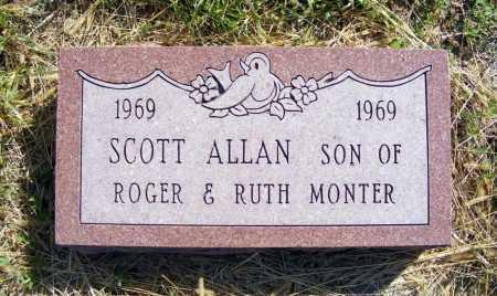 MONTER, SCOTT ALLAN - Frontier County, Nebraska | SCOTT ALLAN MONTER - Nebraska Gravestone Photos