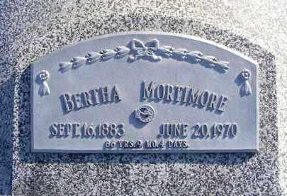MORTIMORE, BERTHA - Frontier County, Nebraska | BERTHA MORTIMORE - Nebraska Gravestone Photos