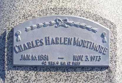MORTIMORE, CHARLES HARLEN - Frontier County, Nebraska | CHARLES HARLEN MORTIMORE - Nebraska Gravestone Photos