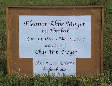 HORNBECK MOYER, ELEANOR ABBE - Frontier County, Nebraska | ELEANOR ABBE HORNBECK MOYER - Nebraska Gravestone Photos