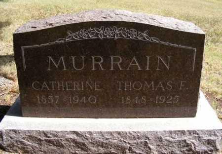 MURRAIN, THOMAS E. - Frontier County, Nebraska | THOMAS E. MURRAIN - Nebraska Gravestone Photos