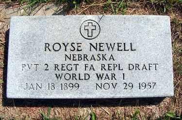 NEWELL, ROYSE - Frontier County, Nebraska | ROYSE NEWELL - Nebraska Gravestone Photos