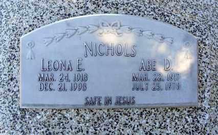NICHOLS, LEONA E. - Frontier County, Nebraska   LEONA E. NICHOLS - Nebraska Gravestone Photos