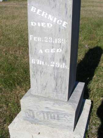 NICHOLS, BERNICE - Frontier County, Nebraska | BERNICE NICHOLS - Nebraska Gravestone Photos