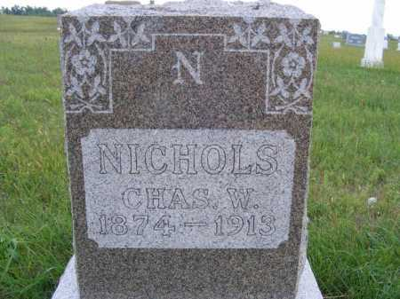 NICHOLS, CHARLES W. - Frontier County, Nebraska | CHARLES W. NICHOLS - Nebraska Gravestone Photos