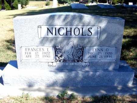 NICHOLS, LYNN O. - Frontier County, Nebraska | LYNN O. NICHOLS - Nebraska Gravestone Photos