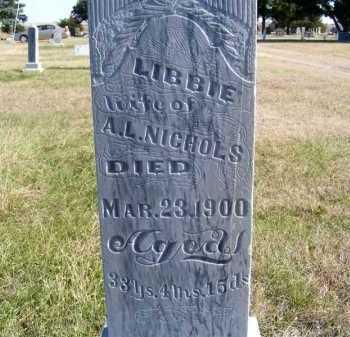 NICHOLS, LIBBIE - Frontier County, Nebraska | LIBBIE NICHOLS - Nebraska Gravestone Photos