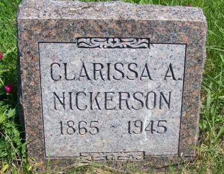 NICKERSON, CLARISSA A. - Frontier County, Nebraska | CLARISSA A. NICKERSON - Nebraska Gravestone Photos