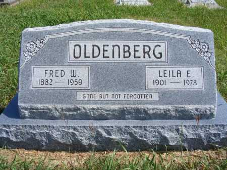 OLDENBERG, LEILA E. - Frontier County, Nebraska | LEILA E. OLDENBERG - Nebraska Gravestone Photos
