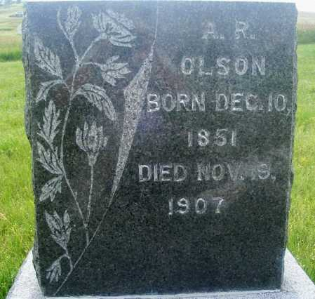 OLSON, A.R. - Frontier County, Nebraska | A.R. OLSON - Nebraska Gravestone Photos