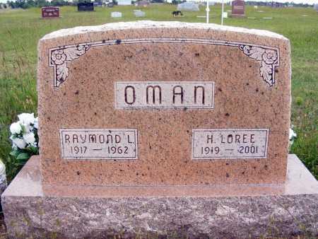 OMAN, RAYMOND L. - Frontier County, Nebraska | RAYMOND L. OMAN - Nebraska Gravestone Photos