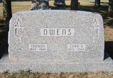 OWENS, THOMAS - Frontier County, Nebraska   THOMAS OWENS - Nebraska Gravestone Photos