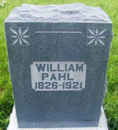 PAHL, WILLIAM - Frontier County, Nebraska | WILLIAM PAHL - Nebraska Gravestone Photos