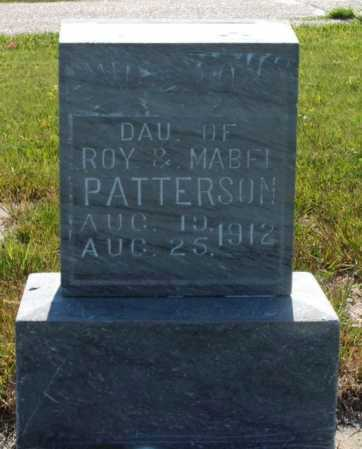 PATTERSON, INFANT DAUGHTER - Frontier County, Nebraska | INFANT DAUGHTER PATTERSON - Nebraska Gravestone Photos