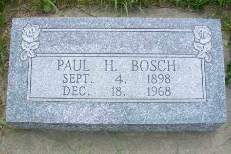BOSCH, PAUL HENRY - Frontier County, Nebraska   PAUL HENRY BOSCH - Nebraska Gravestone Photos