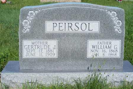 PEIRSOL, GERTRUDE J. - Frontier County, Nebraska   GERTRUDE J. PEIRSOL - Nebraska Gravestone Photos