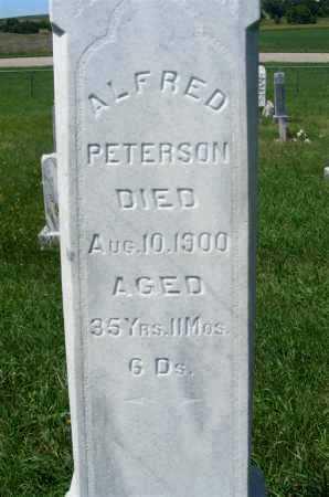 PETERSON, ALFRED - Frontier County, Nebraska | ALFRED PETERSON - Nebraska Gravestone Photos