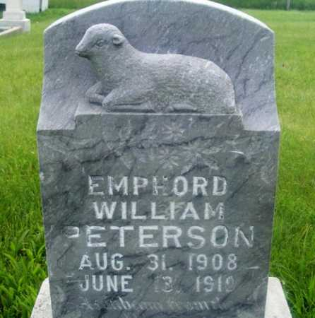 PETERSON, EMPHORD WILLIAM - Frontier County, Nebraska | EMPHORD WILLIAM PETERSON - Nebraska Gravestone Photos