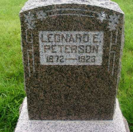 PETERSON, LEONARD E. - Frontier County, Nebraska | LEONARD E. PETERSON - Nebraska Gravestone Photos