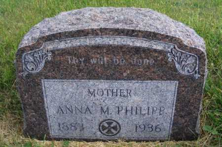 PHILIPP, ANNA M. - Frontier County, Nebraska   ANNA M. PHILIPP - Nebraska Gravestone Photos