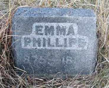PHILLIPS, EMMA - Frontier County, Nebraska | EMMA PHILLIPS - Nebraska Gravestone Photos