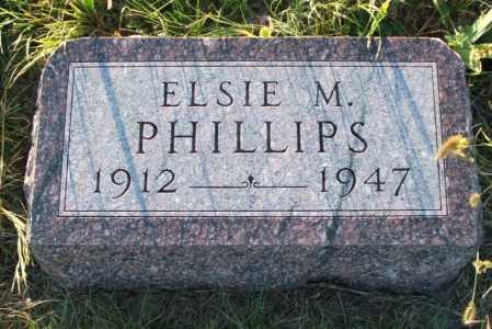 PHILLIPS, ELSIE M. - Frontier County, Nebraska   ELSIE M. PHILLIPS - Nebraska Gravestone Photos