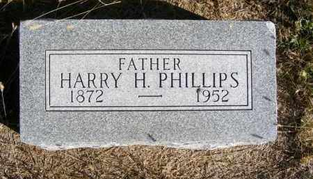 PHILLIPS, HARRY H. - Frontier County, Nebraska | HARRY H. PHILLIPS - Nebraska Gravestone Photos