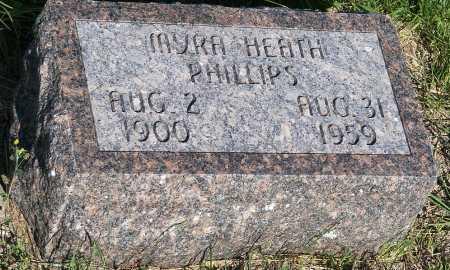 PHILLIPS, MYRA HEATH - Frontier County, Nebraska | MYRA HEATH PHILLIPS - Nebraska Gravestone Photos