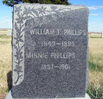PHILLIPS, MINNIE - Frontier County, Nebraska | MINNIE PHILLIPS - Nebraska Gravestone Photos