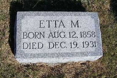 PIPER, ETTA M. - Frontier County, Nebraska | ETTA M. PIPER - Nebraska Gravestone Photos