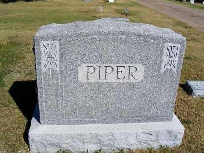 PIPER, FAMILY - Frontier County, Nebraska | FAMILY PIPER - Nebraska Gravestone Photos
