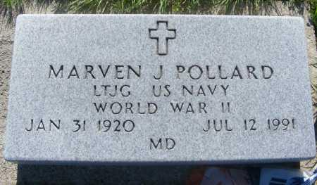 POLLARD, MARVEN J. - Frontier County, Nebraska   MARVEN J. POLLARD - Nebraska Gravestone Photos