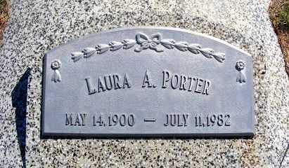 PORTER, LAURA A. - Frontier County, Nebraska   LAURA A. PORTER - Nebraska Gravestone Photos
