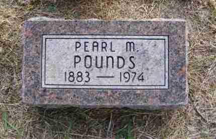 POUNDS, PEARL M. - Frontier County, Nebraska | PEARL M. POUNDS - Nebraska Gravestone Photos