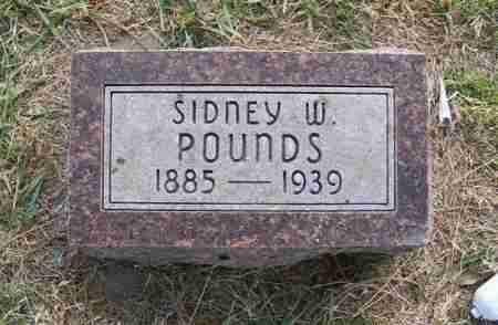 POUNDS, SIDNEY W. - Frontier County, Nebraska | SIDNEY W. POUNDS - Nebraska Gravestone Photos
