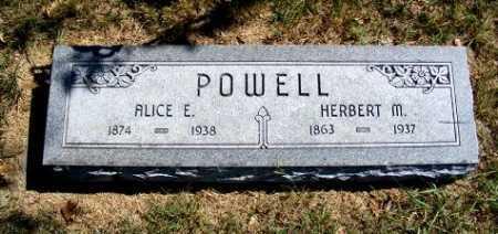 POWELL, ALICE E. - Frontier County, Nebraska | ALICE E. POWELL - Nebraska Gravestone Photos