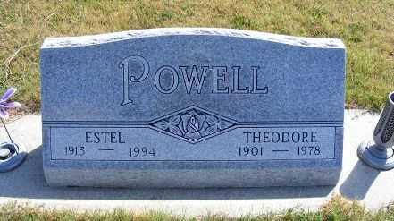 POWELL, ESTEL - Frontier County, Nebraska | ESTEL POWELL - Nebraska Gravestone Photos
