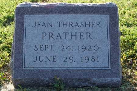 PRATHER, JEAN THRASHER - Frontier County, Nebraska | JEAN THRASHER PRATHER - Nebraska Gravestone Photos