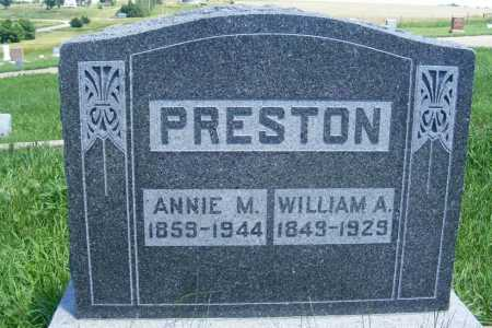 PRESTON, ANNIE M. - Frontier County, Nebraska | ANNIE M. PRESTON - Nebraska Gravestone Photos